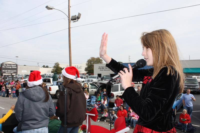 Alyse at Lumberton Christmas Parade - Lumberton, NC 2009.